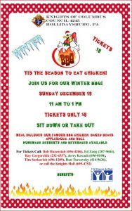 Chicken BBQ Dinner @ Knights of Columbus Council 4245