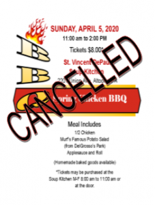 CANCELLED - Spring Chicken BBQ - Altoona Soup Kitchen @ SVDP Soup Kitchen