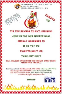Knights of Columbus #4245 Chicken BBQ @ Knights of Columbus Council 4245